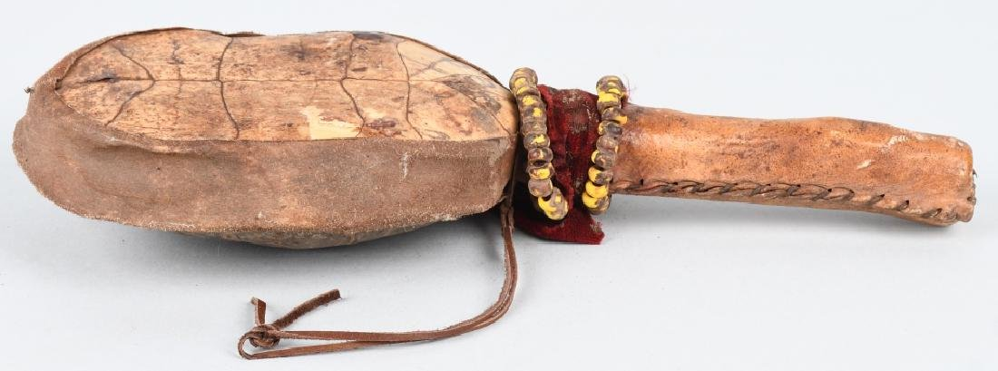 INDIAN CEREMONIAL TURTLE SHELL RATTLE - 6