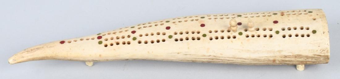 INUITE WALRUS CRIBBAGE BOARD