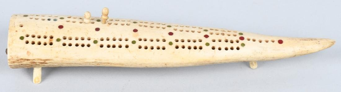 INUITE WALRUS CRIBBAGE BOARD - 2