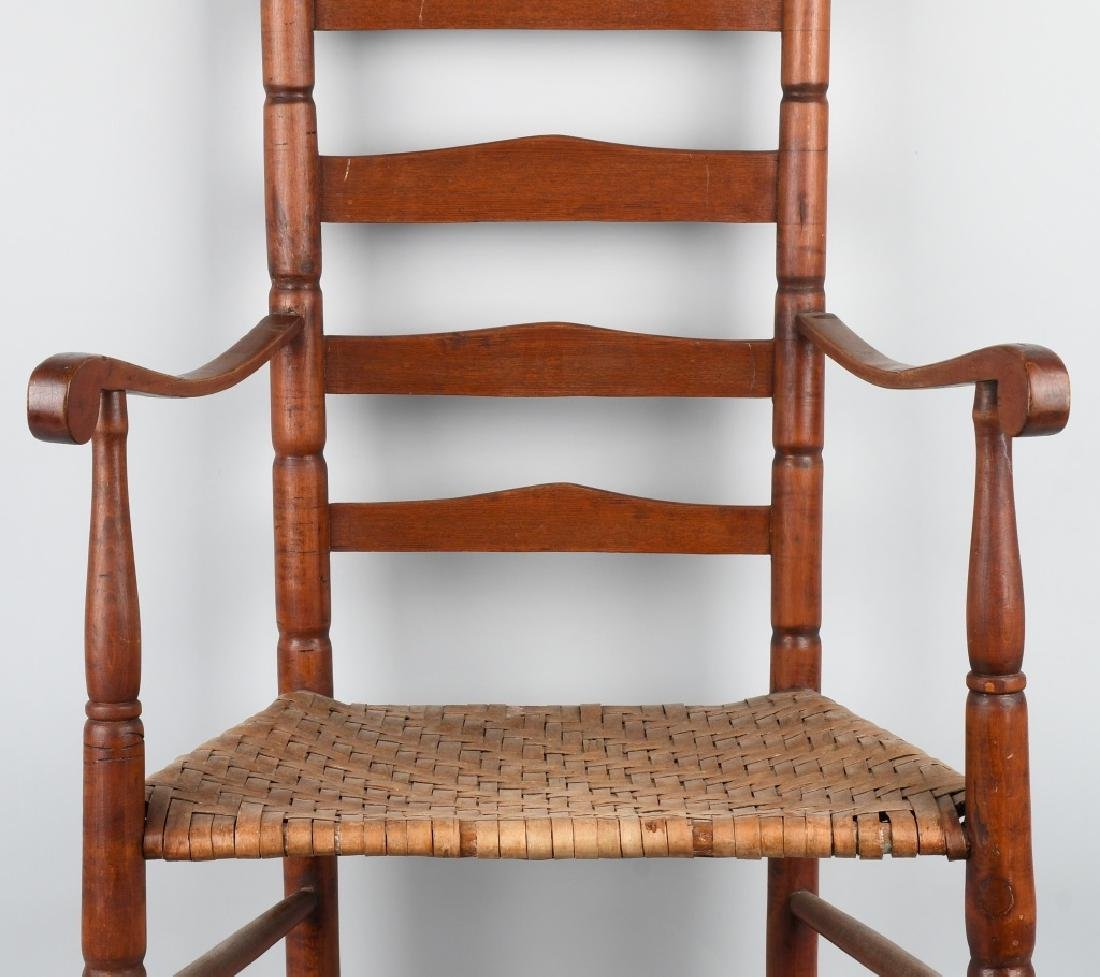 NEW ENGLAND LADDER BACK ARM CHAIR - 3