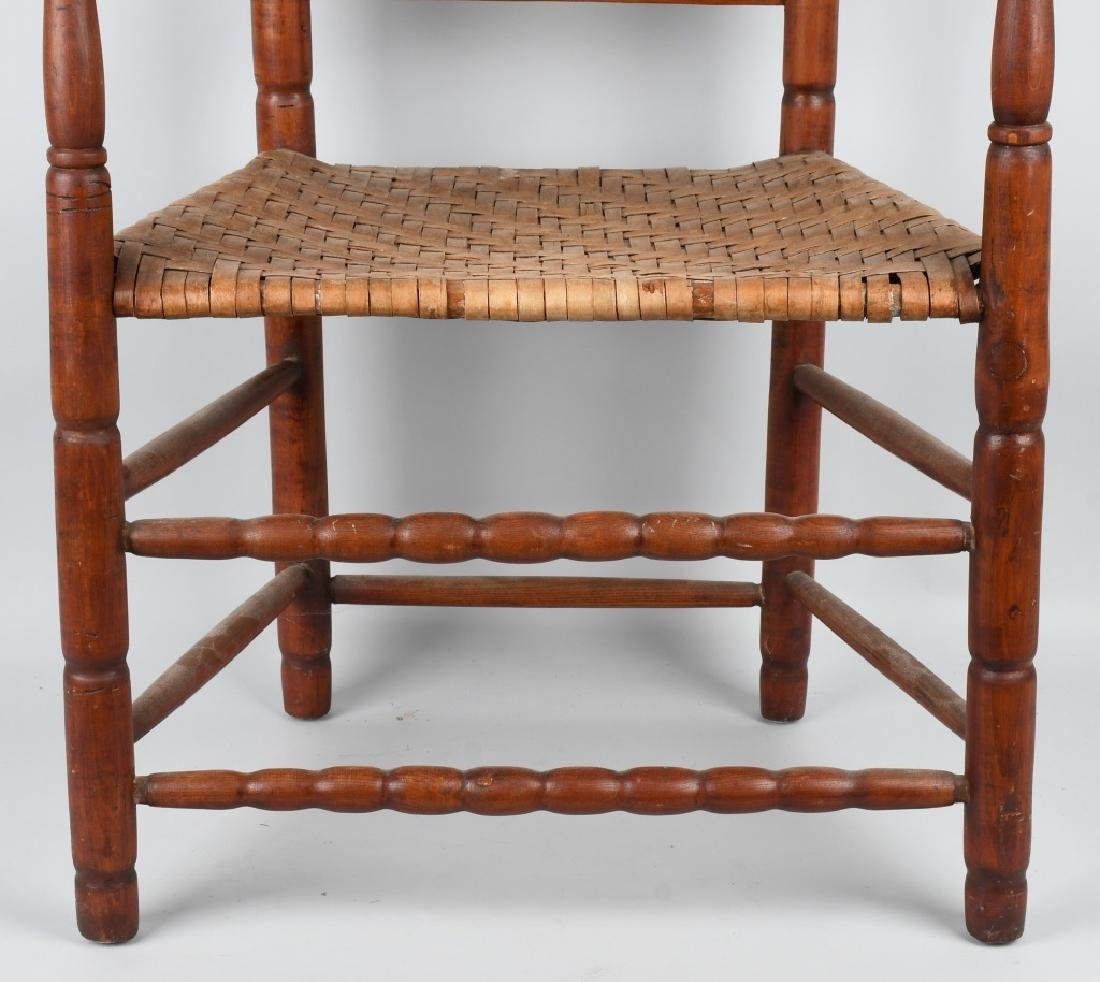 NEW ENGLAND LADDER BACK ARM CHAIR - 4