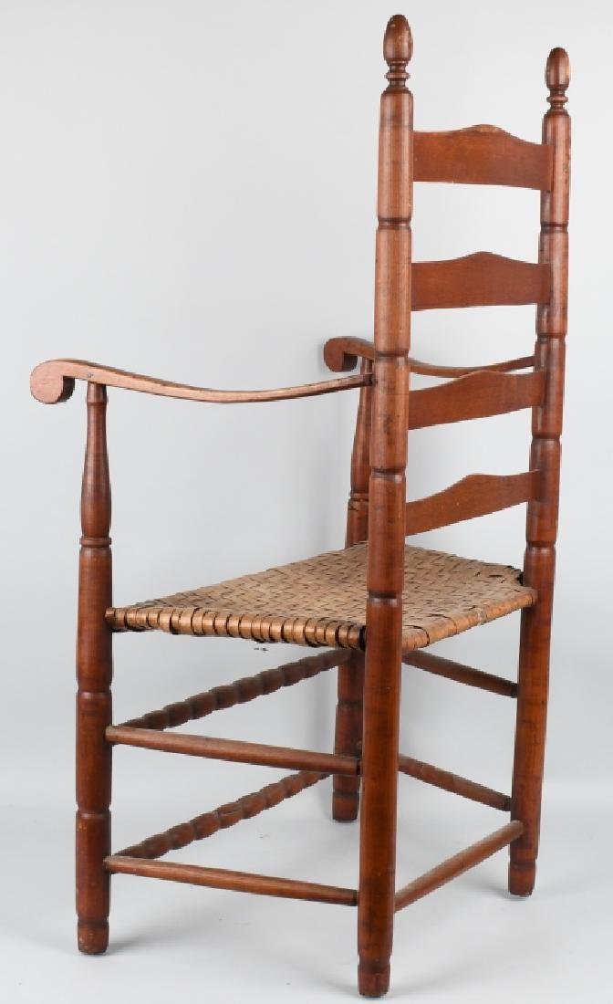 NEW ENGLAND LADDER BACK ARM CHAIR - 5