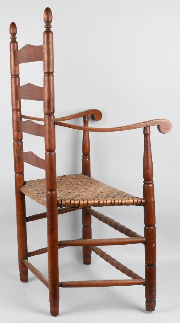 NEW ENGLAND LADDER BACK ARM CHAIR - 6