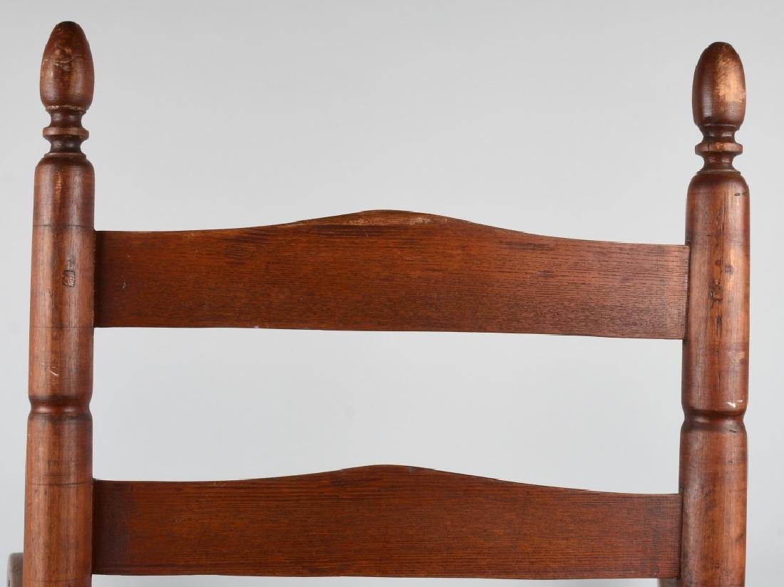 NEW ENGLAND LADDER BACK ARM CHAIR - 7