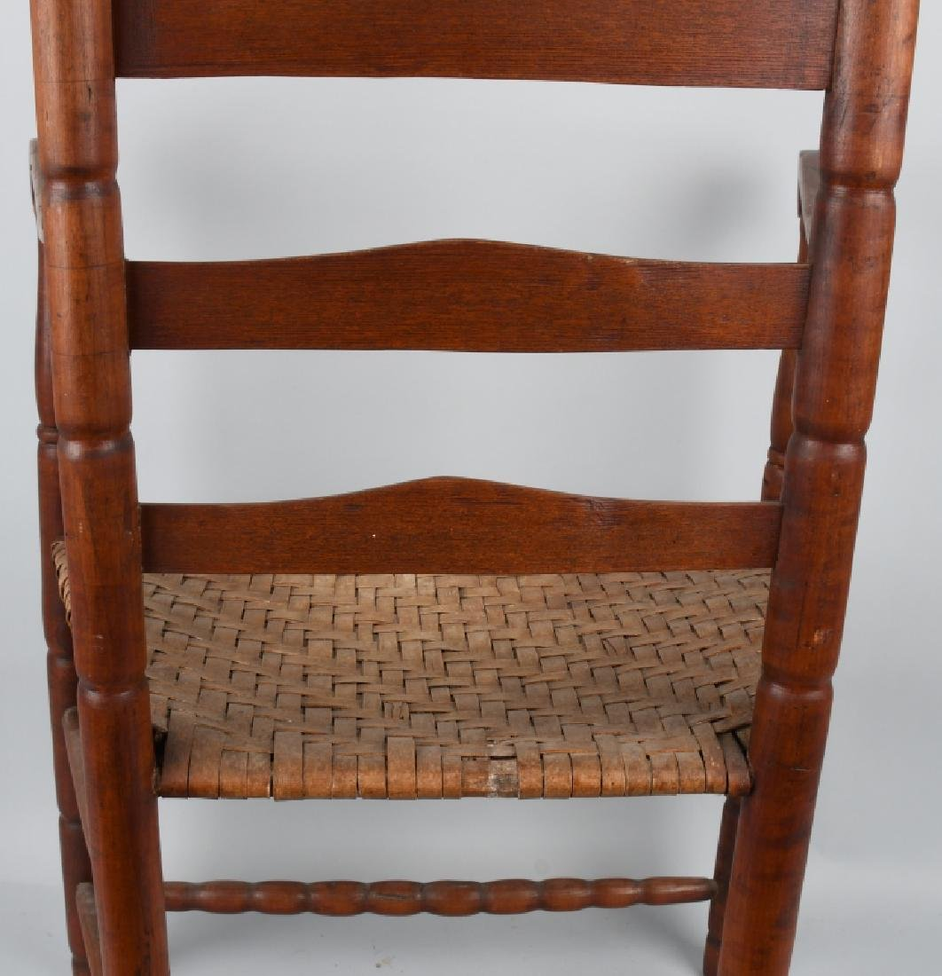 NEW ENGLAND LADDER BACK ARM CHAIR - 8