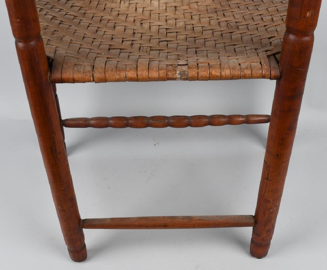 NEW ENGLAND LADDER BACK ARM CHAIR - 9