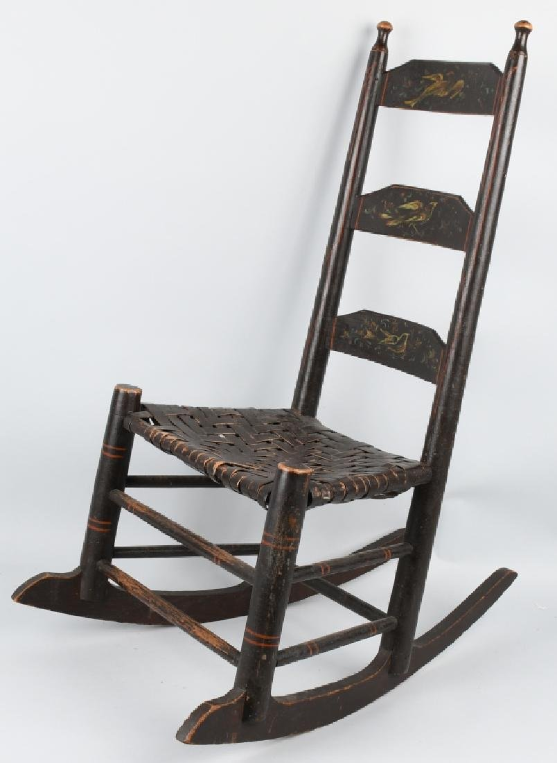 VIRGINIA LADDER BACK PAINTED ROCKER