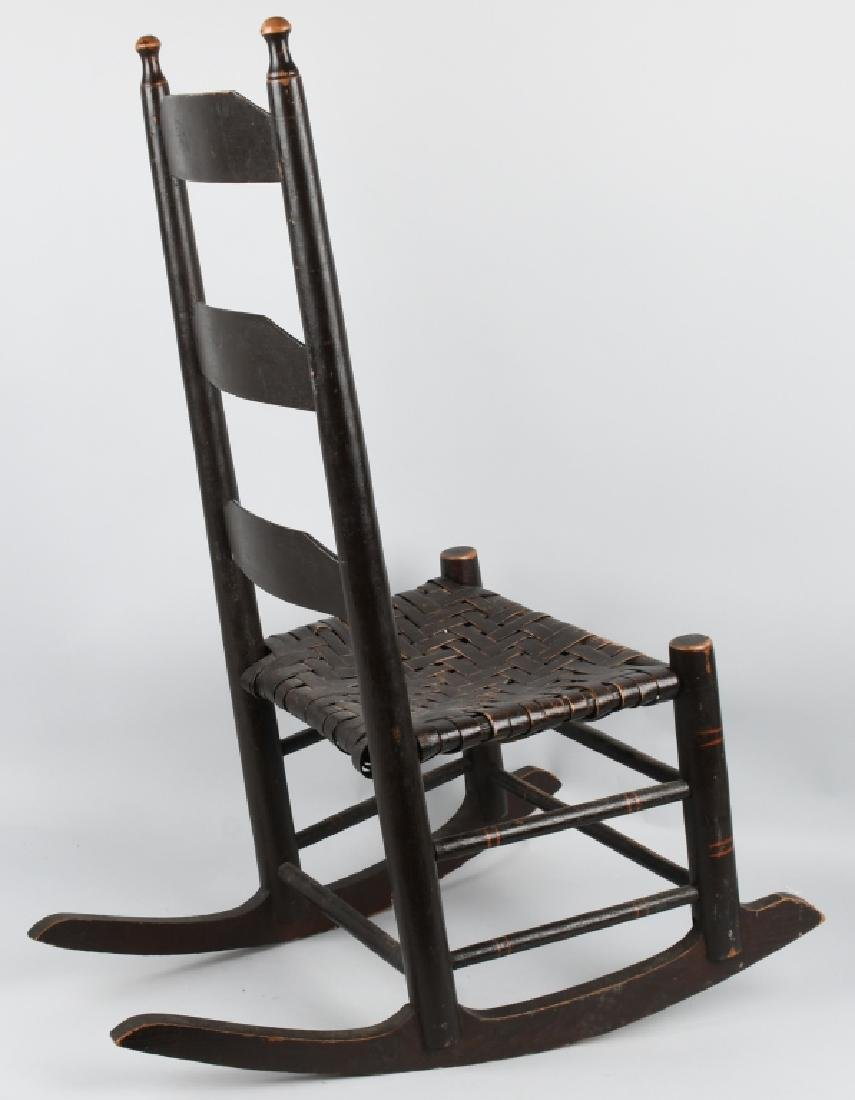 VIRGINIA LADDER BACK PAINTED ROCKER - 6