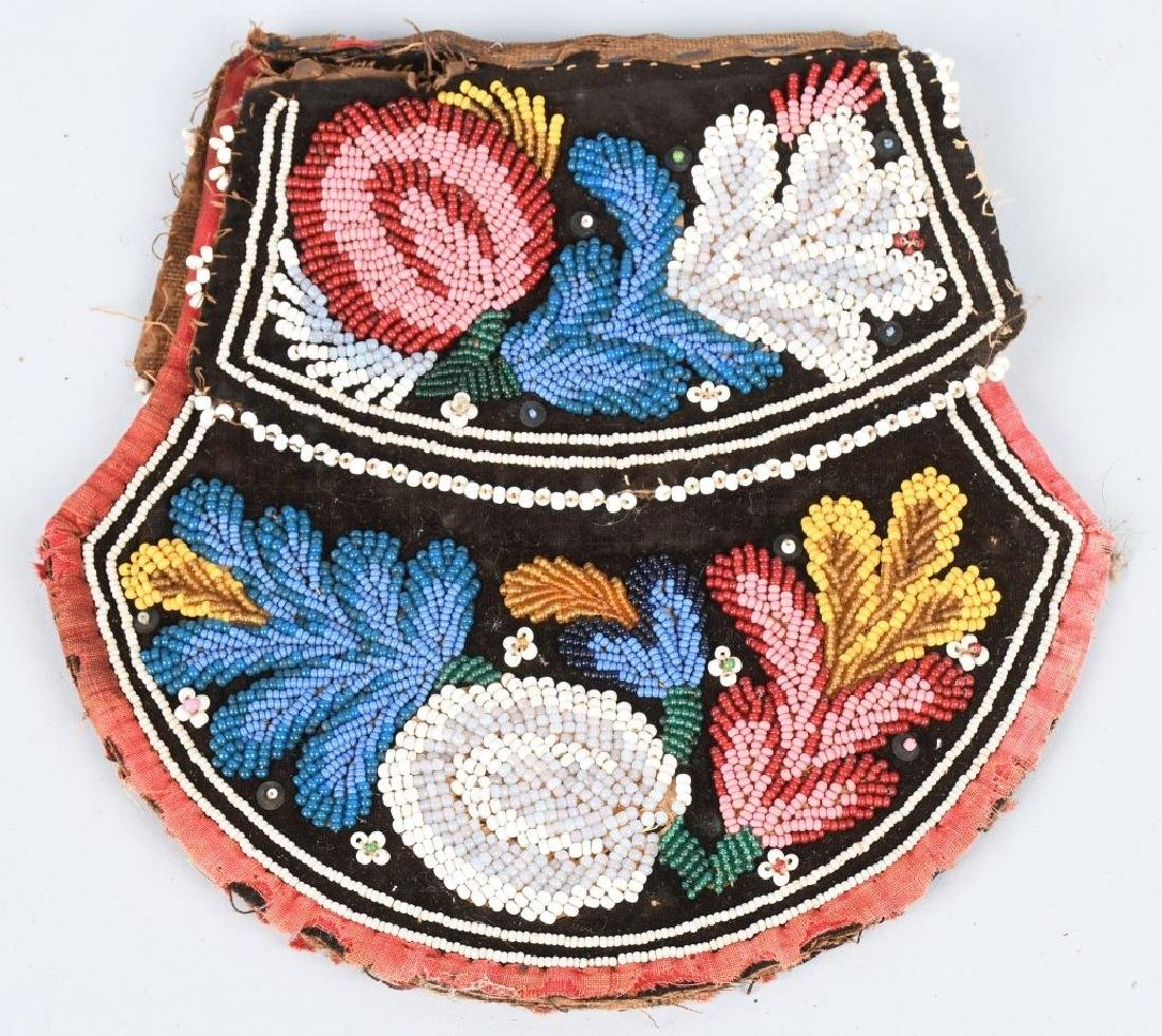 EARLY IROQUOIS INDIAN BEADED BAG