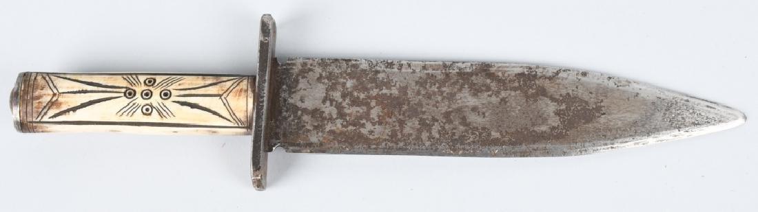 CHEYENNE INDIAN FORGED KNIFE & SHEATH - 2