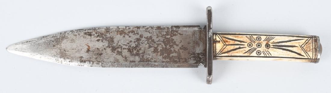 CHEYENNE INDIAN FORGED KNIFE & SHEATH - 3