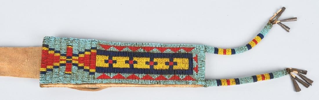 CHEYENNE INDIAN FORGED KNIFE & SHEATH - 4