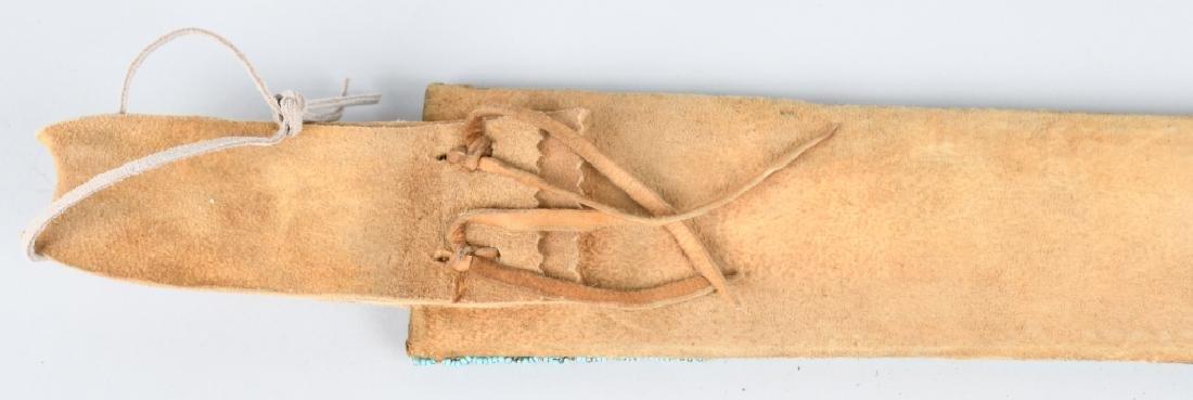 CHEYENNE INDIAN FORGED KNIFE & SHEATH - 5