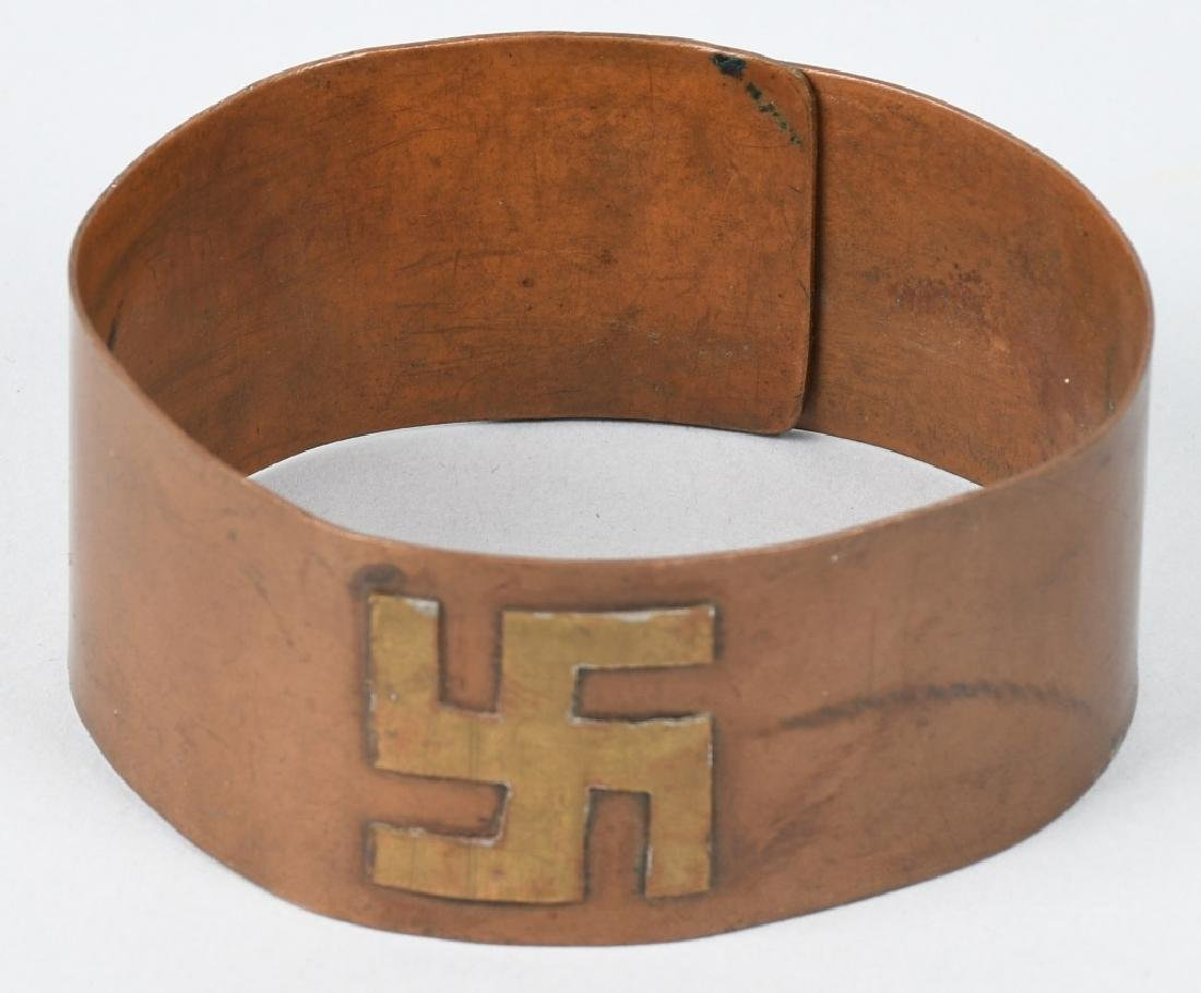 EARLY COPPER & BRASS ARM BANDS w/ SYMBOLS - 2