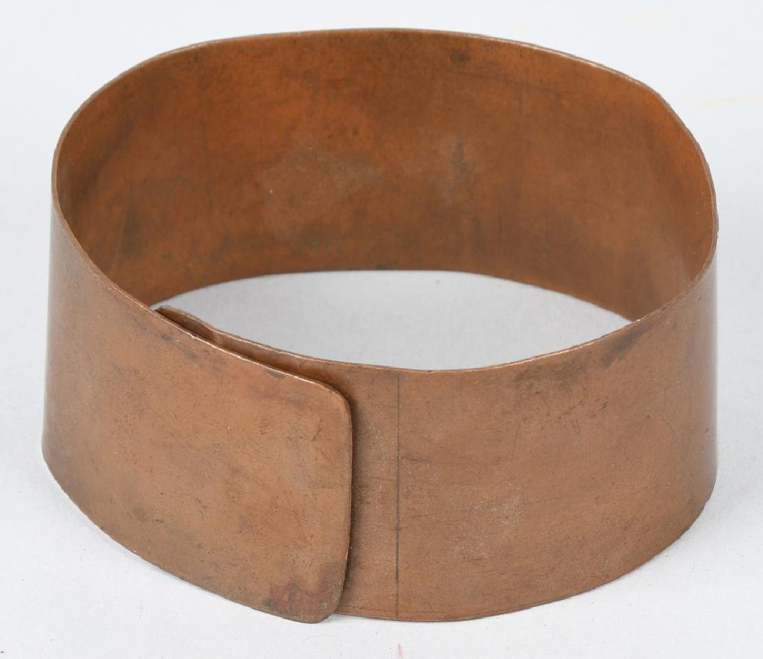 EARLY COPPER & BRASS ARM BANDS w/ SYMBOLS - 3