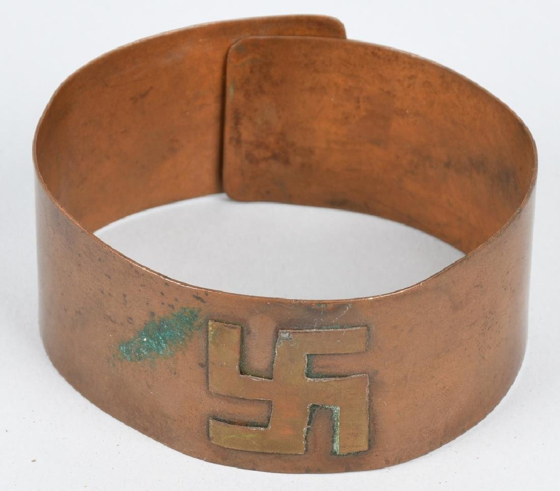 EARLY COPPER & BRASS ARM BANDS w/ SYMBOLS - 4