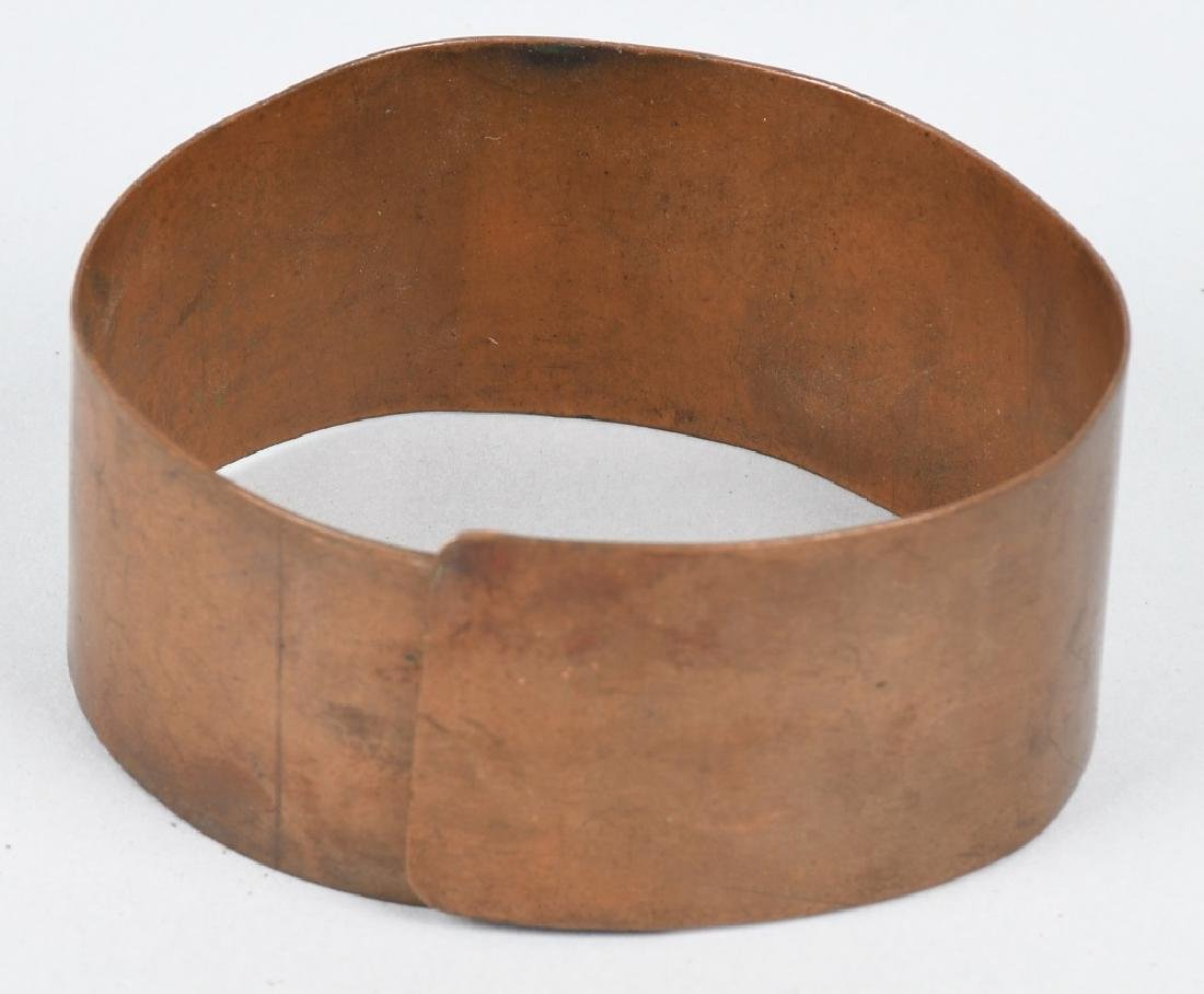 EARLY COPPER & BRASS ARM BANDS w/ SYMBOLS - 5