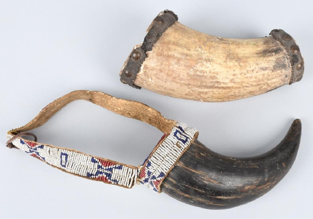 2- EARLY INDIAN STYLE HORN CUPS