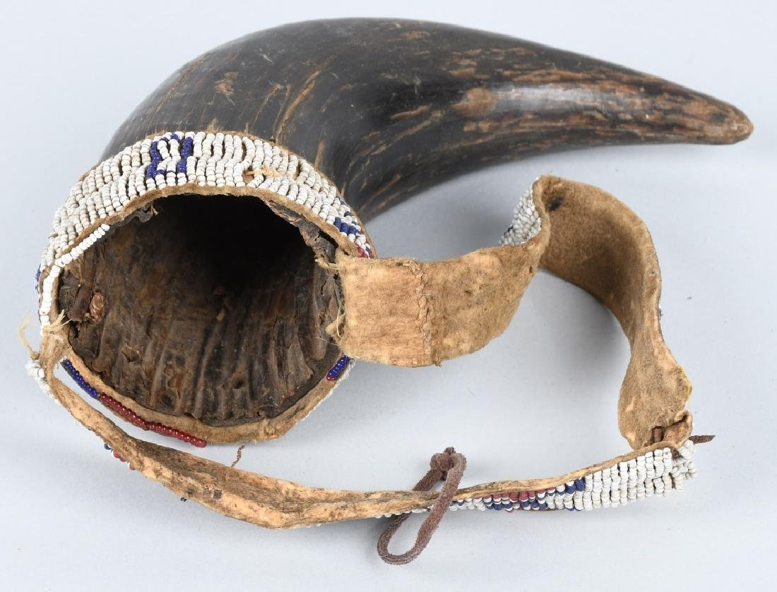 2- EARLY INDIAN STYLE HORN CUPS - 6