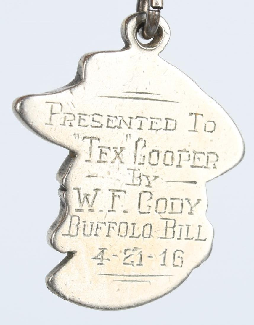 1916 BUFFALO BILL CODY MEDAL GIVEN TO TEX COOPER - 6