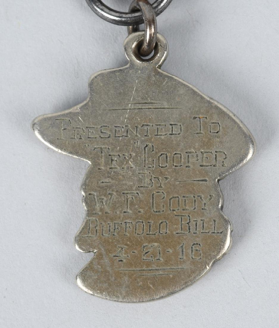 1916 BUFFALO BILL CODY MEDAL GIVEN TO TEX COOPER - 7