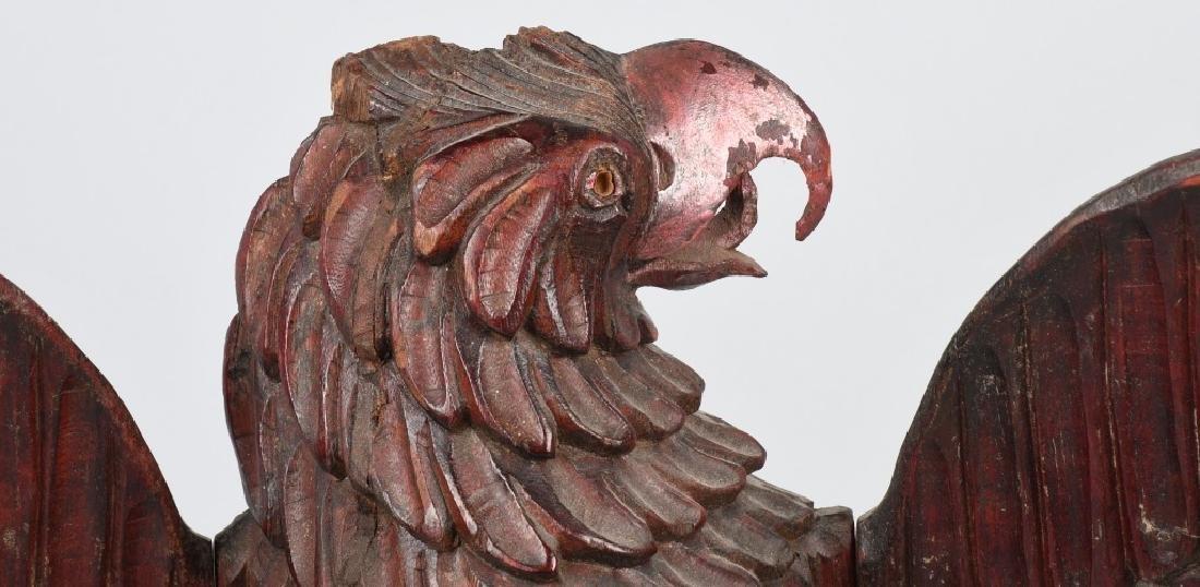 FOLK ART CARVED WOOD AMERICAN EAGLE - 2