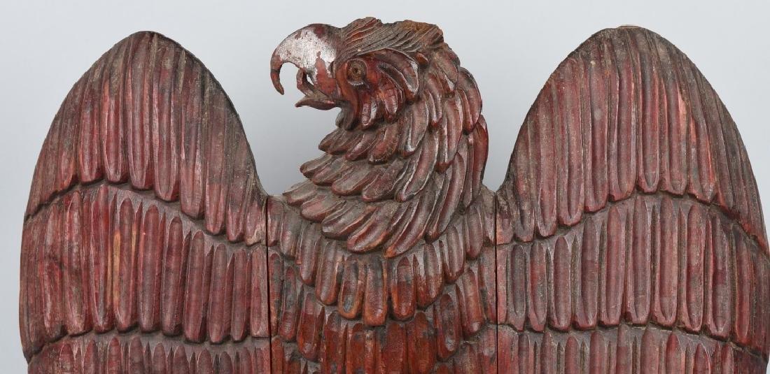 FOLK ART CARVED WOOD AMERICAN EAGLE - 8