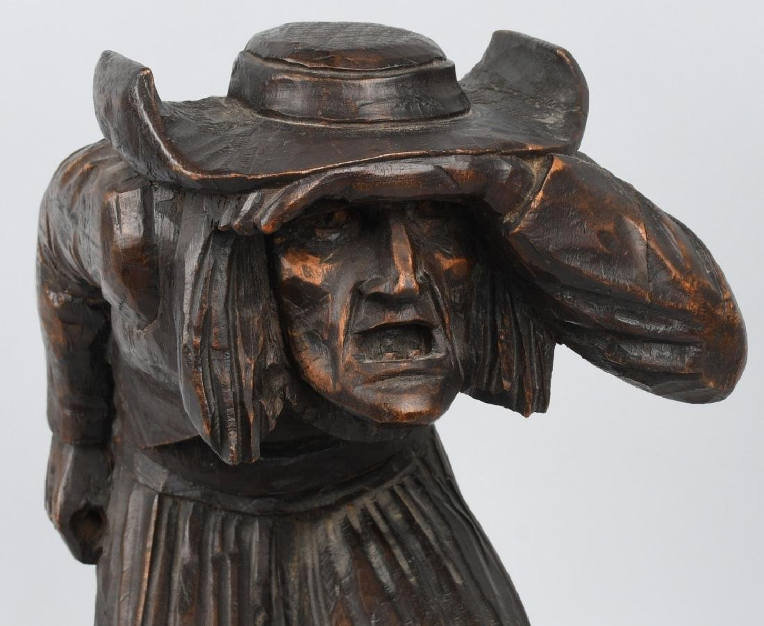 WOOD CARVED LOOKOUT SOLDIER FIGURE - 2