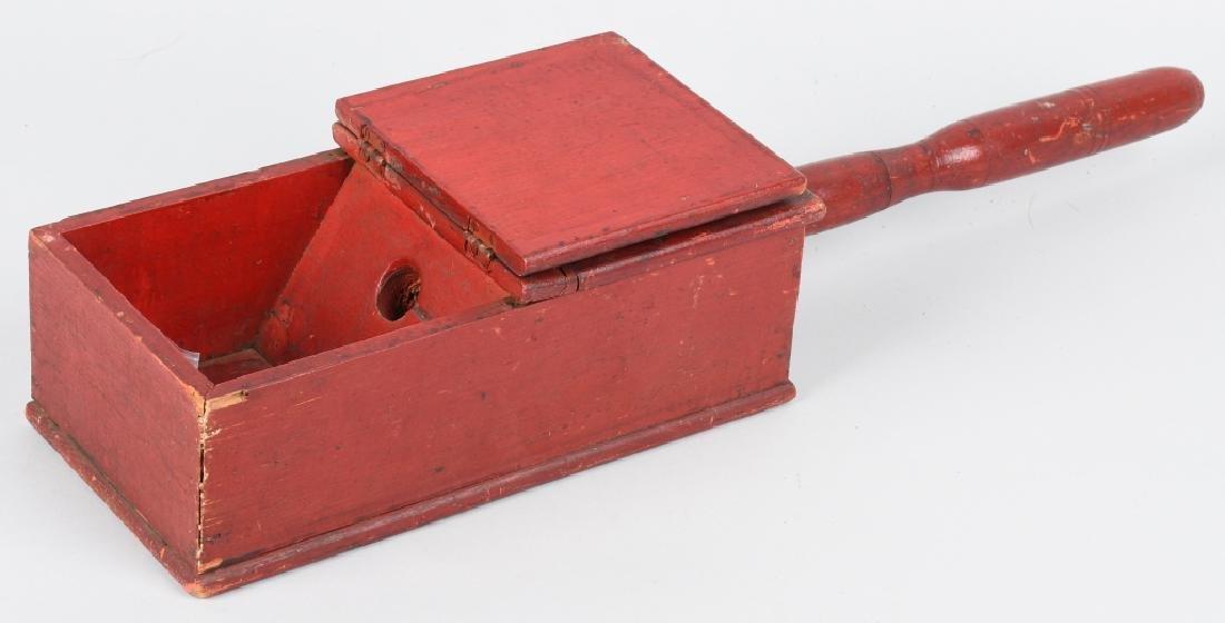 19th CENTURY WOODEN BALLOT BOX