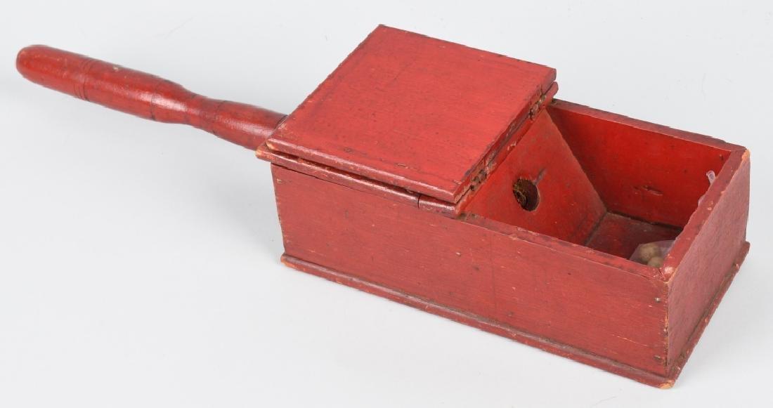 19th CENTURY WOODEN BALLOT BOX - 2
