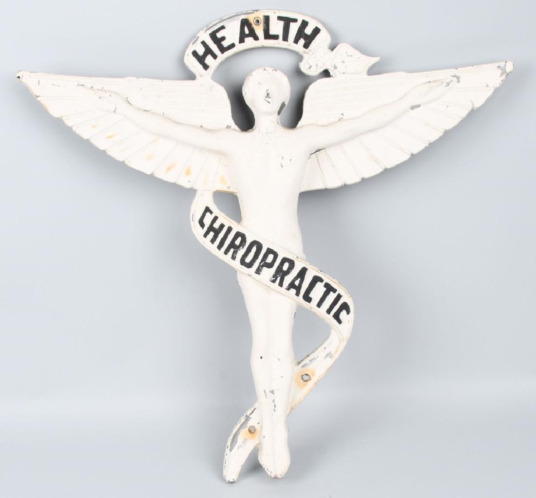 CAST METAL HEALTH CHIROPRACTOR ANGEL SIGN