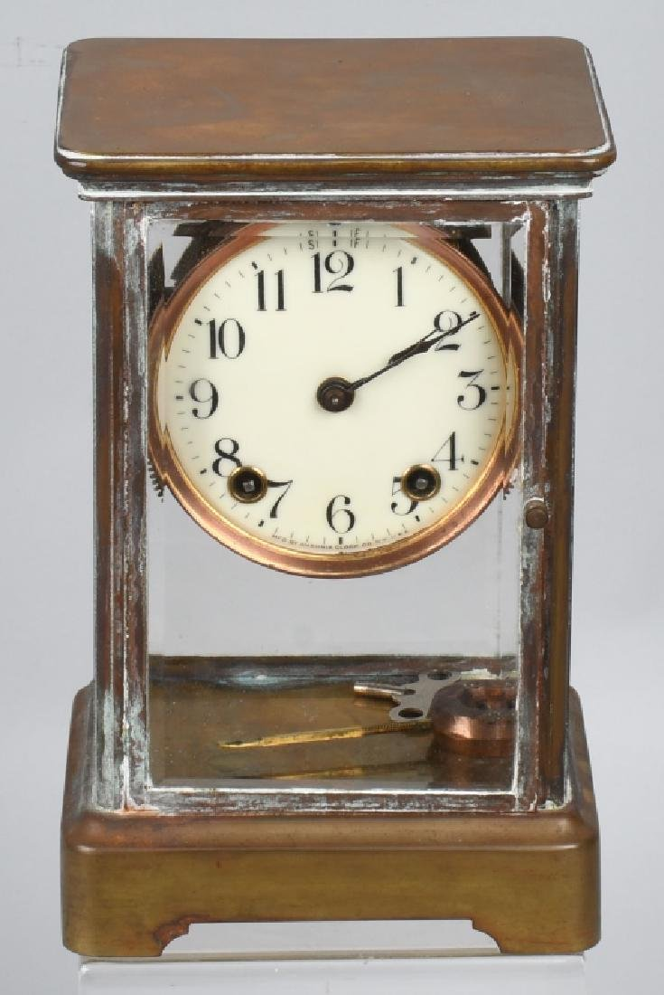 VINTAGE BRASS ANSONIA CASE CLOCK