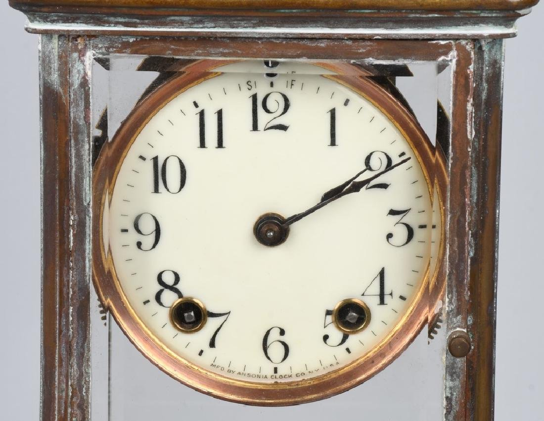 VINTAGE BRASS ANSONIA CASE CLOCK - 2