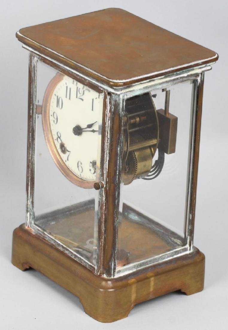 VINTAGE BRASS ANSONIA CASE CLOCK - 5