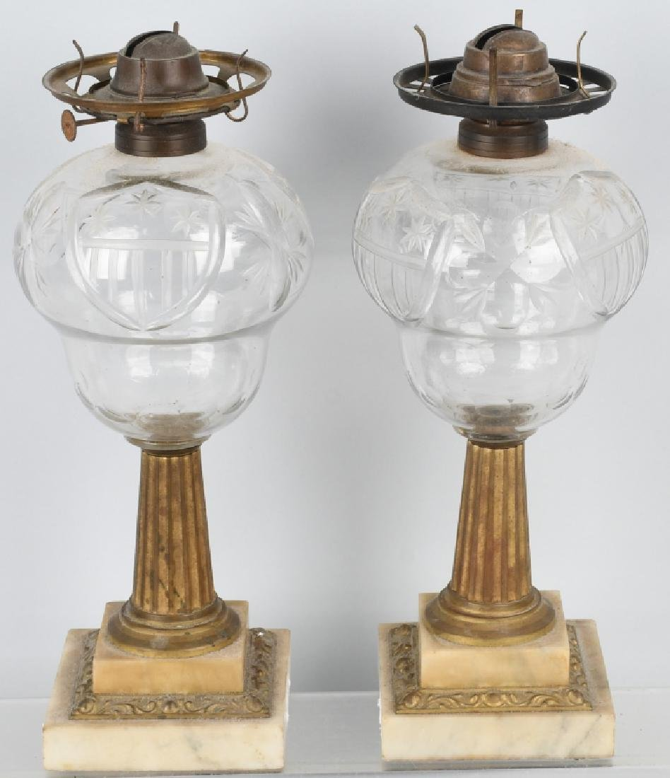 PAIR of AMERICAN PATRIOTIC OIL LAMPS - 5
