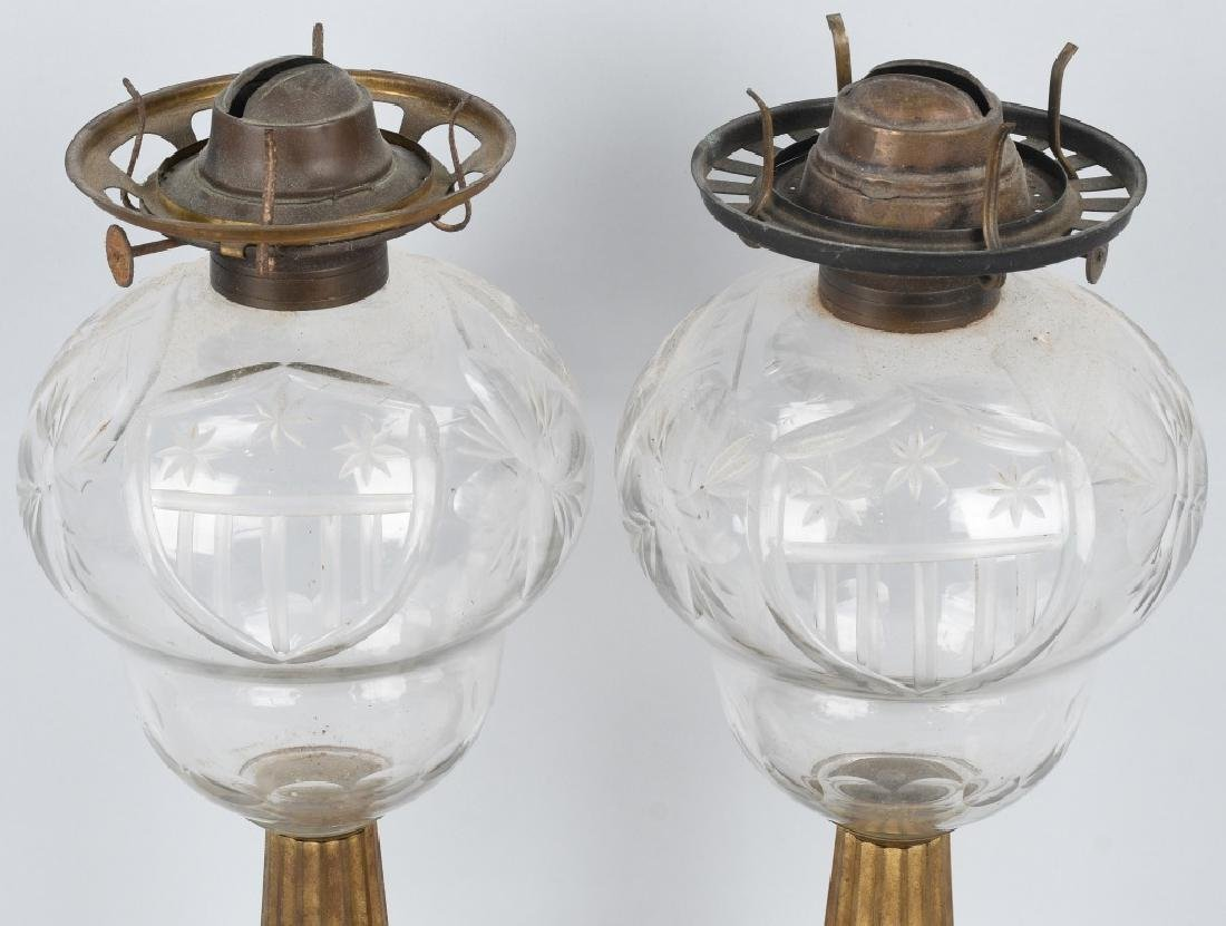 PAIR of AMERICAN PATRIOTIC OIL LAMPS - 7