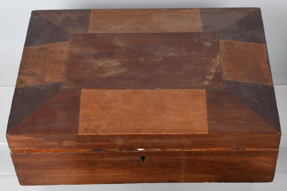 4-ANTIQUE LOCKING BOXES - 2