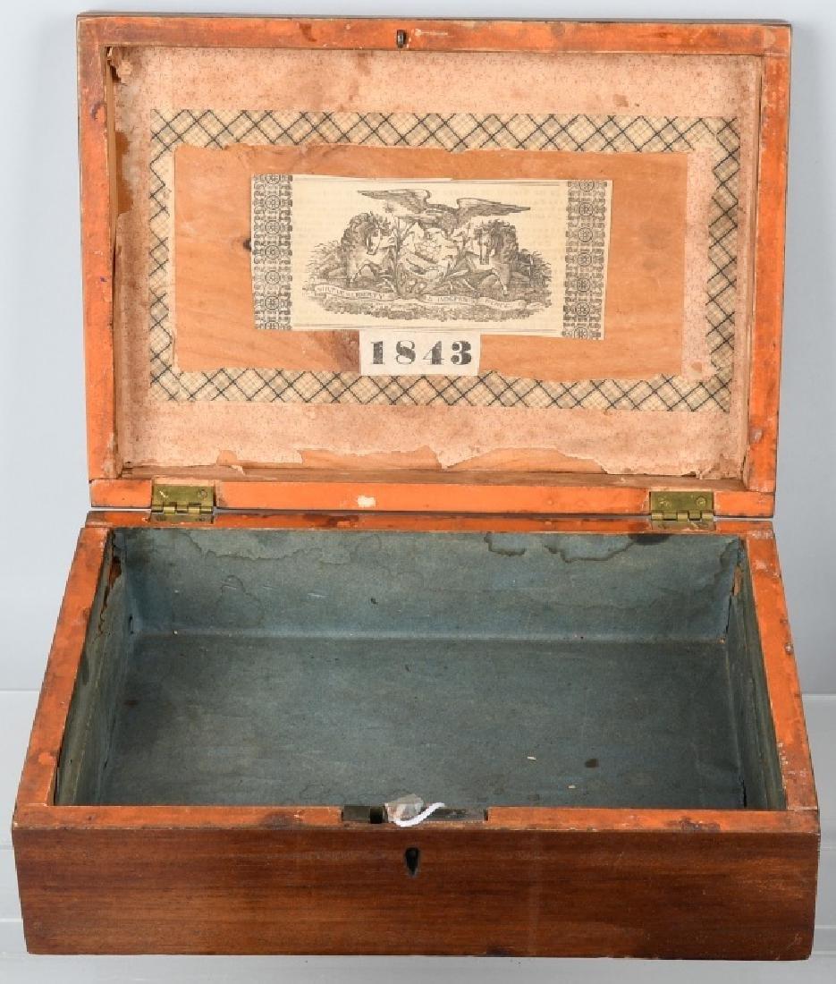 4-ANTIQUE LOCKING BOXES - 3