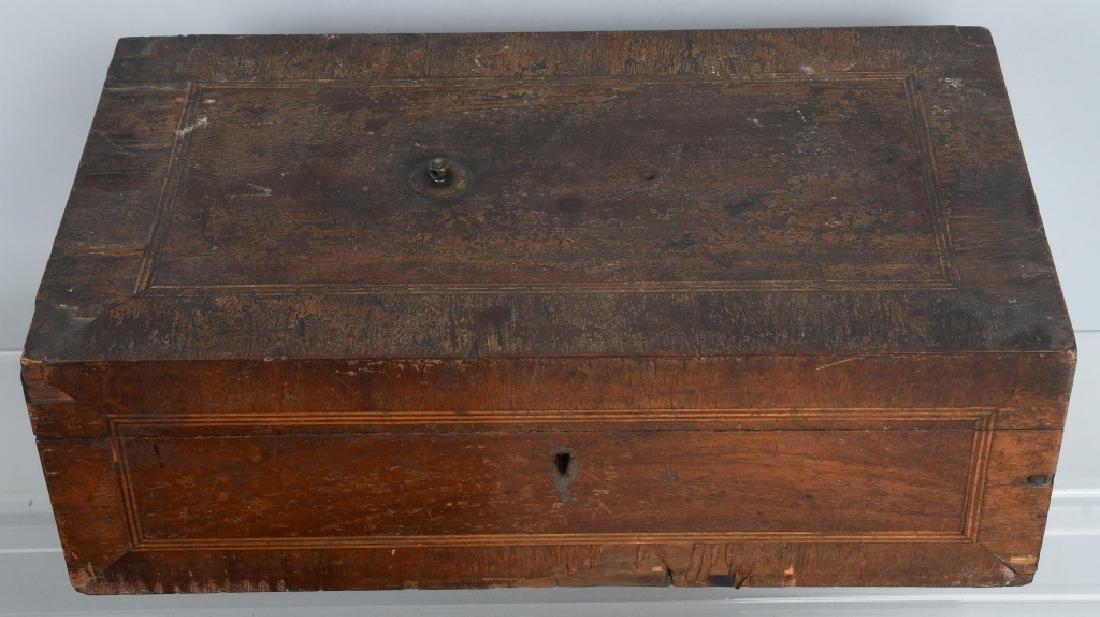 4-ANTIQUE LOCKING BOXES - 5