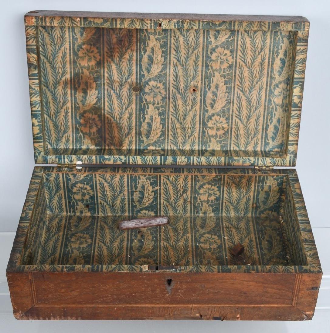 4-ANTIQUE LOCKING BOXES - 6