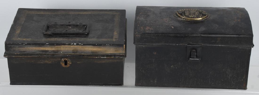 4-ANTIQUE LOCKING BOXES - 7