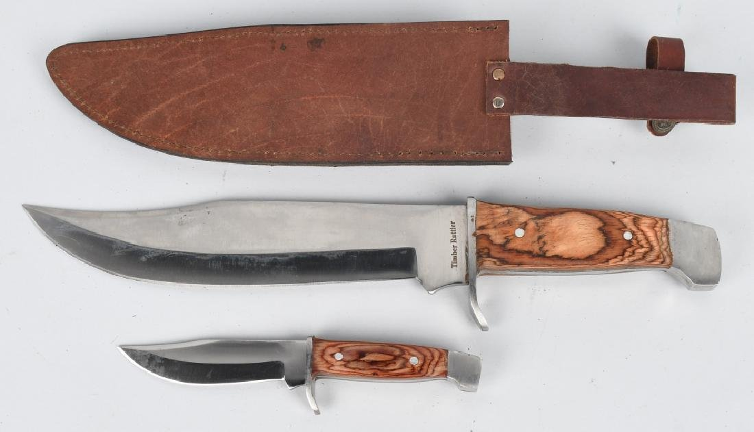 4-LARGE TIMBER RATTLER BOWIE KNIVES - 5
