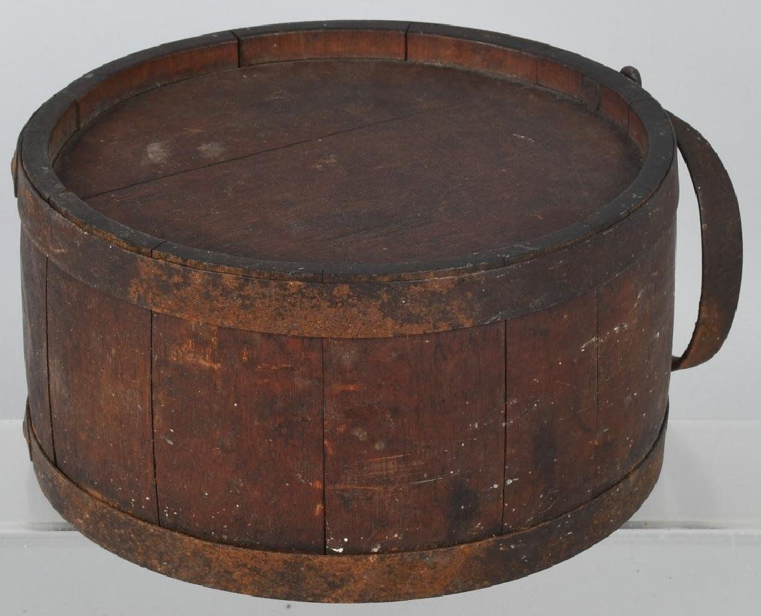 19th CENT. WOOD IRON BANDED CANTEEN - 7