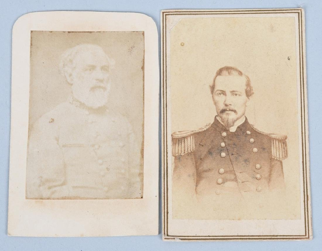 ROBERT LEE & PGT BEAUREGUARD CDV PICTURES