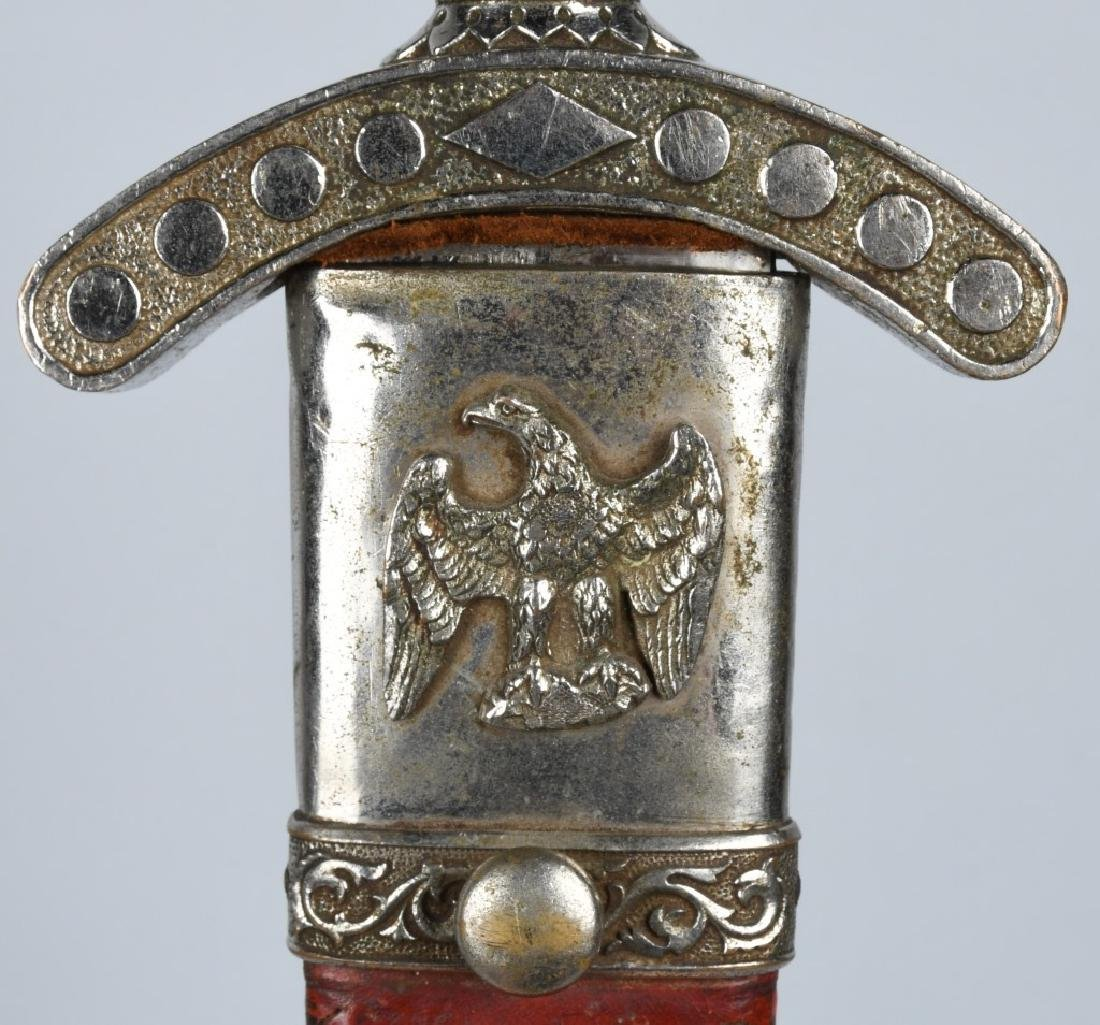 19th CENT. PATRIOTIC FRATERNAL SHORT SWORD - 8