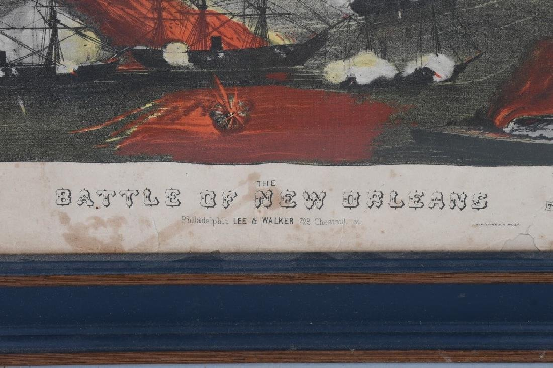 BATTLE of NEW ORLEANS FRAMED LITHO & MORE - 10