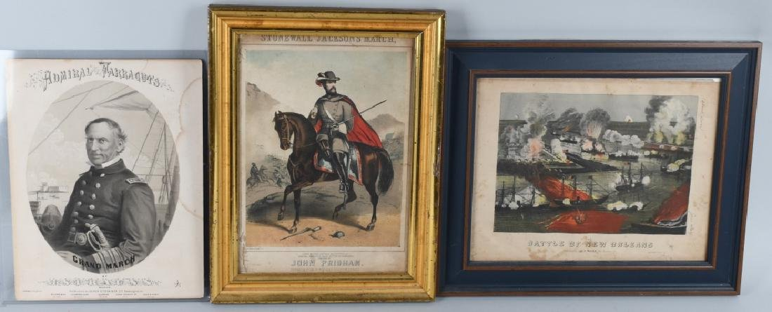 BATTLE of NEW ORLEANS FRAMED LITHO & MORE