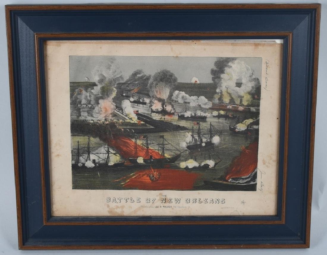 BATTLE of NEW ORLEANS FRAMED LITHO & MORE - 8