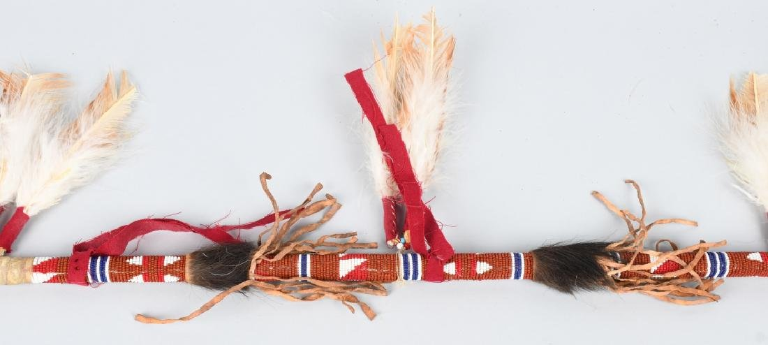NATIVE AMERICAN PEACE PIPE & BEADED SPEAR - 3