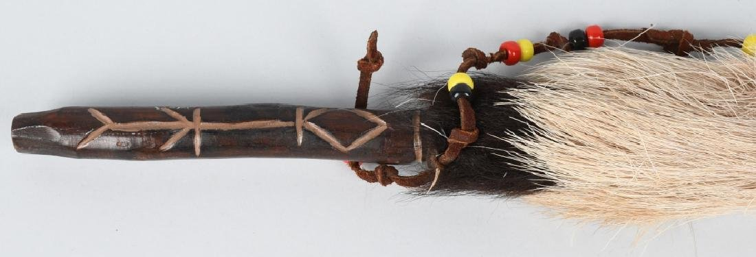 NATIVE AMERICAN PEACE PIPE & BEADED SPEAR - 7
